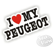 I Heart Love mi Peugeot Pug 106 206 306 307 207 308 Boxer coche van Sticker Decal