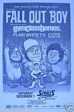 FALL OUT BOY / GYM CLASS HEROES / PLAIN WHITE T'S 2007 SAN DIEGO CONCERT POSTER