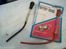 2 QWIK-CHEK VINTAGE BATTERY TESTERS 1 TESTER NEW ON CARD UNIMAR 20-104