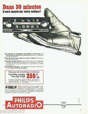 PUBLICITE ADVERTISING 106  1966  Philips   autoradio