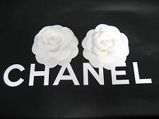"lot of 2, 2016Chanel white Camellia Flowers,  3.25"" inch,"