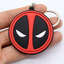 New Marvel Comics Deadpool Logo Soft Rubber Keychain Keyring Double Side