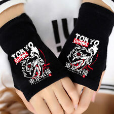 Anime Tokyo Ghoul Kaneki Ken Mask Cosplay Cotton Knit Gloves Fingerless Mittens