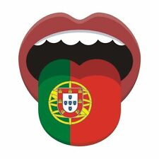 Portugese Flag Portugal  National Flag Tongue Sticker Decal Graphic Vinyl Label