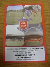 18/04/2012 Middlesex County League Sunday Division 1 Cup Final: Athletico Bil Pl