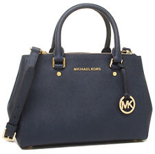Michael Kors Bag 30F4GSUS6L MK Sutton Med Leather Satchel Navy Ags #COD Paypal