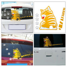 Funny Yellow Cat with a Wagging Tail Sticker Car Window Wiper Decal For All Cars
