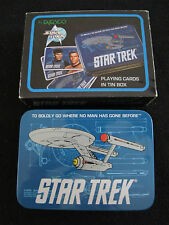 1990's COLLECTORS DOUBLE PACK OF PLAYING CARDS & TIN - STAR TREK