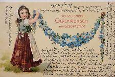 16032 AK Kind mit Blumengirlande um 1904 PC child with flowers