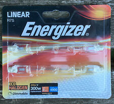 ENERGIZER S5162 R7S LINEAR ECO HALOGEN BULB 240W 300w CARD OF 2 DIMMABLE BULBS