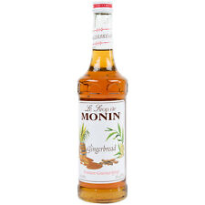 Monin 750 mL Premium Gingerbread Flavoring Syrup coffee or cooking