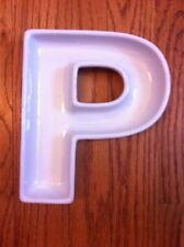 Sur La Table Ceramic Letter  P  Wedding Appetizer Snack Party Bowl Dish 7+ x 6""