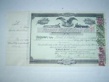 PIONEER REAL ESTATE  COMPANY - 1899 - Tax Stamp