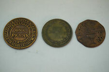 ANTIQUE MASONIC PENNY LOT 3 TOKENS PAINESVILLE CLEVELAND WILLOUGHBY OH CHAPTER