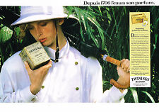 PUBLICITE  1988   TWININGS OF LONDON   thé  Darjeeling (2 pages)