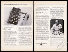 1974 Hewlett-Packard HP-65 calculator photo vintage print ad