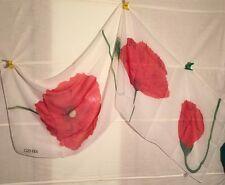 KENZO Tuch Schal Seide silk soie carre foulard RAR MOHN fazzoletto shawl