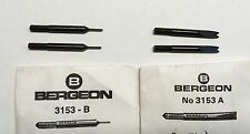 2 Sets SWISS BERGEON 3153 A & B Spring Bar Tool Points & Forks Watchmaker