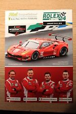 2016 IMSA RISI Ferrari #62 Hero Card Le Mans Rolex 24 Hours at Daytona