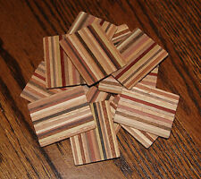 "OLD EDNA""S Dollhouse Miniature Cutting Bread Boards  Variegated Wood Lot of 12"