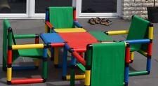 NEUw original Quadro Spieltisch mit 4 Sesseln Sitzgruppe Moveandstic w neu