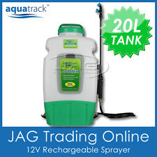 AQUATRACK 12V 20L WEED SPRAYER BACKPACK - Spot Spray Chemical Tank Water Pump