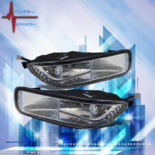2003 2004 Toyota Corolla Fog Lights Clear Lens Front Driving Lamps PAIR