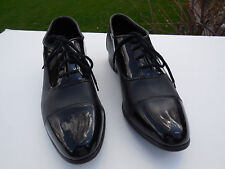 MEN'S BARCLAY BLACK FAUX PATENT LEATHER TUXEDO SHOES FOR WEDDINGS / PROM--10 M