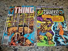 Lot of 2 Vintage Marvel Comic Group Comic Books The Thing & The Fantastic Four