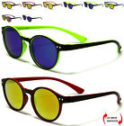 NEW MIRRORED COLOURED ROUND UNISEX WOMEN LADIES MEN RETRO VINTAGE SUNGLASSES