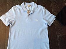 Men's Burberry polo shirt light blue sz S