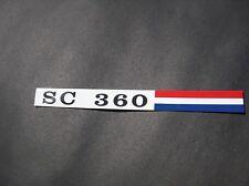 AMC SC 360 Hornet 71 dash glovebox emblem aluminum metal badge Hurst 3M