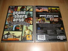 GRAND THEFT AUTO GTA SAN ANDREAS GTA DE ROCKSTAR GAMES PARA PC NUEVO PRECINTADO