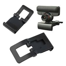 New Black TV Clip for Sony PS3 Move Eye Camera Mount Holder Stand Adjustable OE