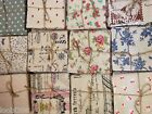 PATTERNED LINEN FAT QUARTER - patchwork fabric quilting material 1/4