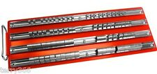"LARGE SOCKET TRAY RACK STORAGE RAIL. HOLDS 80 SOCKETS SHALLOW DEEP 1/2"" 3/8"" 1/4"