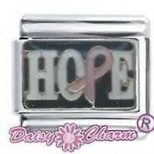 DAISY CHARM Italian Charms - HOPE BREAST CANCER RIBBON