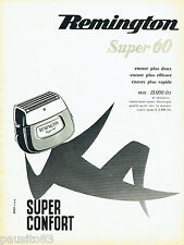 PUBLICITE ADVERTISING 016  1956  Remington rasoir éléctrique Super 60