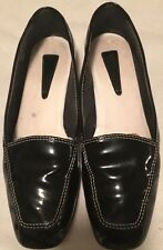 Enzo Angiolini Shoes Sz 8M Womens Black Patent & Leather Liberty Ballet Flats