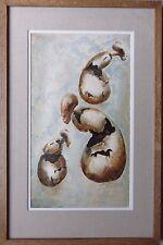 Stella Shawzin B1923 très rare fine original signé peinture abstrait formes de vies