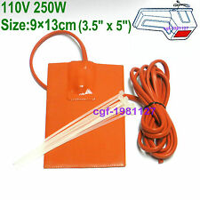Universal Silicone Engine Oil Pad Heater 110V 250 Watt with 3M adhesive