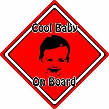 Cool Baby/Child On Board Car Sign ~ Baby Face Silhouette ~ Neon Red