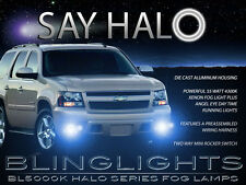 White Halo Angel Eye Fog Lamps Driving Lights Kit for 2007-2014 Chevrolet Tahoe