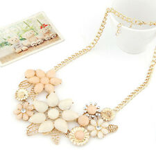 Charm Fashion Lady  Flower Choker Bib Statement Necklace Collar Chain Pendant