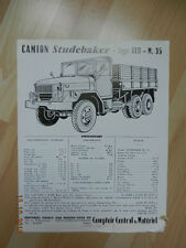 catalogue Camion STUDEBAKER type REO M. 35