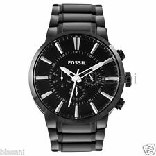 Fossil Original FS4778 Men's Townsman Black Stainless Steel Watch 48mm