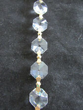 1 Yard AAA Cut Crystal  Lead Chandelier Chain Parts Prism Sun Catcher