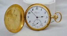 Antique Longines 6 Grands Prix Men's Hunter Case 18K Gold Pocket Watch 1916