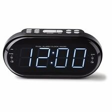 Big LED Display Radio Dual Alarm Clock Dimmer Snooze Sleep Function