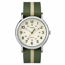 "Timex TW2P72100, Men's ""Weekender"" Green Fabric Strap Watch, Indiglo,TW2P721009J"